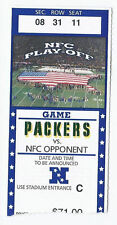 2001 NFL NFC Playoff Game Ticket Stub 49ers at Packers Lambeau Field