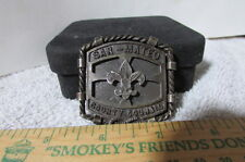 Vintage Brass Belt Buckle-Boy Scout San Mateo County Council