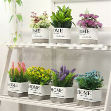 Artificial Potted Flower Wedding Party Birthday Valentine's Day Floral Decor D2