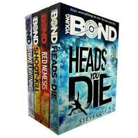 Steve Cole Young Bond 4 Books Set Collection Inc Red Nemesis, Heads You Die NEW