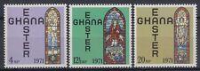 Ghana 1968 ** Mi.428/30 Ostern Easter Kirchenfenster Church Glasses [sr2224]