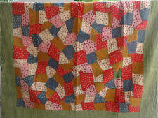 Indian Handmade Kantha Embroidery Hand Cotton Patchwork Bedspread Twin Size