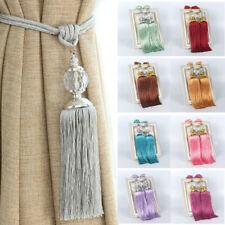 1 Pair Curtain Holdbacks Rope Tie Backs Tassel Tiebacks Crystal Ball Decoration