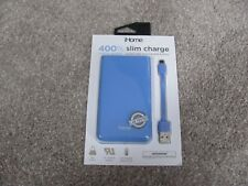 New iHome Slim Charge 8,000 mAh Universal Rechargeable Battery Blue IH-PP2004WN
