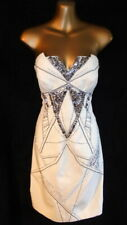 Karen Millen  12 Dress  in beige  bead & sequin embellished pencil style (B875