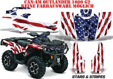 AMR RACING DEKOR GRAPHIC KIT ATV CAN-AM OUTLANDER STD & MAX STARS N STRIPES B