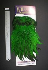 Genuine Whiting Badger Highlander Green Rooster American Saddle Craft/Fly Tying