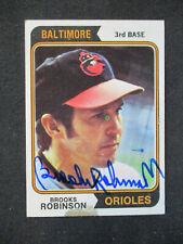 Brooks Robinson Baltimore Orioles Signed 1974 Topps #160 (edge tear) NICE 428