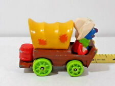 Vtg Sesame Street Grover Muppets Inc Playskool Die Cast Western Wagon Car 1987