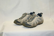 "Merrell Womens "" Jasper "" Hiking Shoes Size 7.5 Blue Grey Good Used Condition"