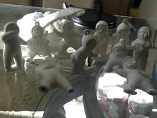10 snow babies Christmas ornimant s ready to paint u paint ceramic bisque