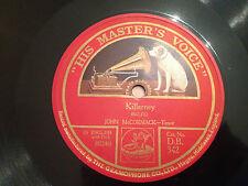"JOHN McCORMACK ""Killarney""/""Kathleen Mavourneen"" 78rpm 12"" 1924 DB342 NMINT+"