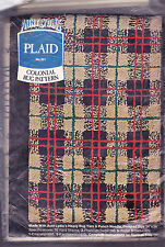 """Aunt Lydia's  Rug Pattern:  Colonial Plaid No. 201  24 x 36"""" NEW"""