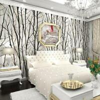 3D Stereo Black White Abstract Branches Forest Woods Trees Waterproof Wallpaper