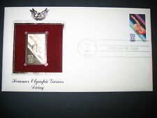 1984 SUMMER OLYMPIC GAMES DIVING 22kt Gold GOLDEN Cover Replica Stamp