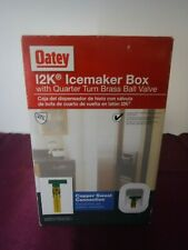 New! Oatey I2K Icemaker Box 1/4 Turn Brass Ball Valve Low Lead With Nails 39130