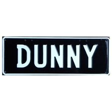 Novelty Number Plate - Dunny White On Black AUS Licence Plate Sign Wall Art Home