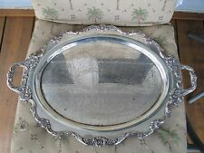 """Royal Rose#9829 By Wallace SilverPlated  Footed Serving Tray Platter 23.25""""!!"""