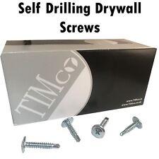 TIMco 4.2mm WAFER HEAD SELF DRILLING PHILLIPS DRIVE TEK DRYWALL SCREW METAL ZINC