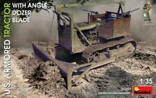 MiniArt 1/35 Scale - US Armored Tractor with Angle Dozer Blade Model Kit 35291