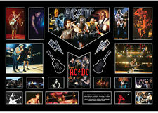 New AC DC ACDC Signed Malcolm Young Limited Edition Oversized Memorabilia Framed