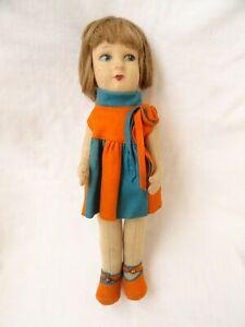 "Antique Lenci Felt Doll 15"" Tall"