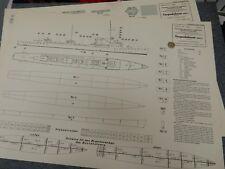 WW2 1106 Torpedoboot (600 t) PAPER MODEL  original  VERY LARGE TORPEDO BOAT  B