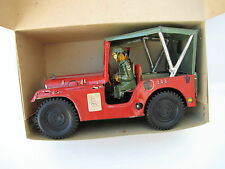 Vintage Handmade Tin Clockwork Army Jeep M32 Nikolaidis Greek Army Box 1950 NOS