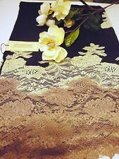 100% Cashmere Pashmina wool Loom Handmade Scarf with lace Embroidery