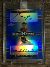 Carli Lloyd & Brandi Chastain 2018 Leaf Metal Sports Heroes Dual Auto SP #10/15