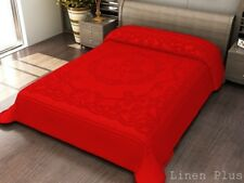 Red 3d crafted Thick Heavy Super Soft Mink King  Size Blanket New 13 Lbs