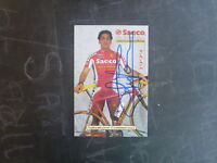 1999 SAECO PRO CYCLING TTEAM CARD SIGNED SALVATORE COMMESSO