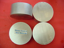 "4 Pieces 3"" ALUMINUM 6061 SOLID ROUND ROD 1.35"" long NEW Lathe Bar Stock 3.00""OD"
