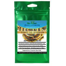 Turkey Tail Mushroom Extract Vegetable Capsules Polysaccharides