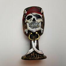 Pirate Skull Goblet resin