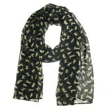 Châles/écharpe noire en mousseline pour femme