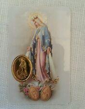 MIRACULOUS MOTHER PRAYER CARD/ESTAMPILLA DE LA MILAGROSA