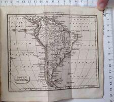 South America, 1824 Antique Map Guys School Geography Atlas, Amazonia, Brazil