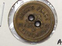 US Trade Token: Jack's Place Flint, MI. G/F 5¢.  #48