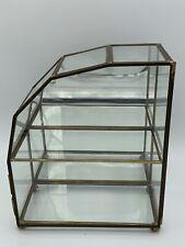 Franklin Mint Vtg Glass  Brass Small Curio Cabinet Left Side ( Insured Postage)