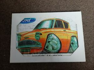 Ford Anglia Jigsaw. 60 x Large Ex Thick Pieces In A Cream Presentation Folder.