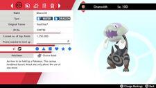 Pokemon Sword and Shield Dracovish 6IVs Shiny Fast Delivery