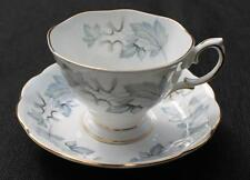 Vintage ROYAL ALBERT Bone China England SILVER MAPLE Set Footed Cup & Saucer