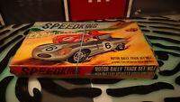 SpeedKing Motor Rally Track Set No. 1 - Slot Cars - Incomplete - For Parts