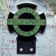 Vintage Car Mascot Badge : British Fields Sports Society BFSS Shooting Fishing