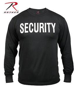 Rothco 60222 2-Sided Security Long Sleeve T-Shirt - Black