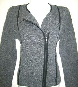 Long Sleeve Open Blazer Jacket Size L  Gray/Black