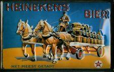 HEINEKEN BIER Vintage Metal Pub Sign   3D Embossed Steel   Home Bar