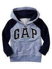 New Baby Gap Raglan Blue Navy GAP Arch Logo Zip Up 3T NWT  Sweatshirt Hoodie
