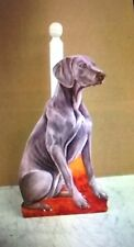 HANDMADE WOODEN WEIMARANER  DOG KITCHEN ROLL HOLDER